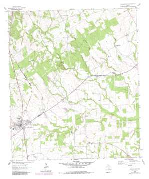 Normangee topo map