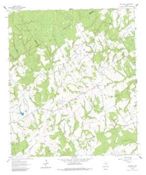 Petteway topo map