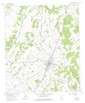 Bremond topo map