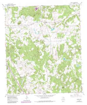 Lanely topo map