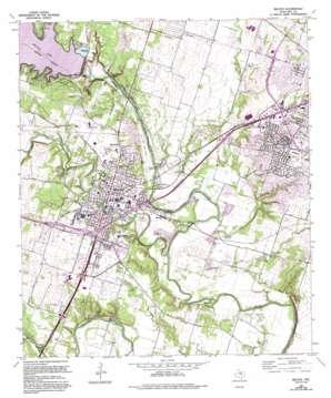 Belton topo map