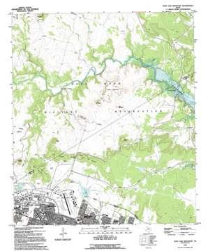 Post Oak Mountain topo map