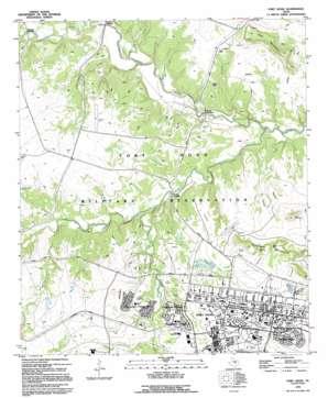 Fort Hood topo map