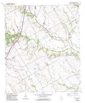 Bruceville topo map