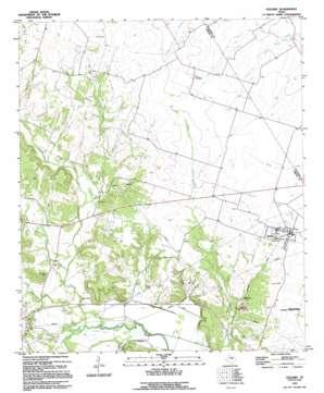 Oglesby topo map