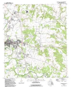 Gatesville East topo map