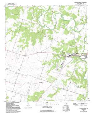 Gatesville West topo map