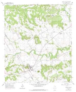 Cranfills Gap topo map