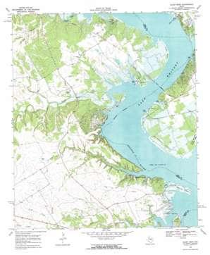 Allen Bend topo map