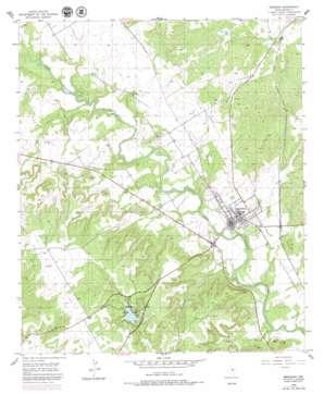Meridian topo map