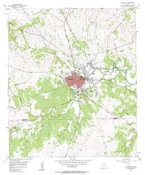 Lampasas topo map