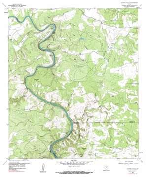Gorman Falls topo map