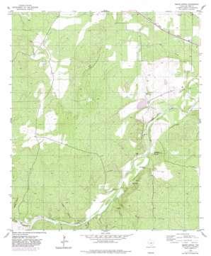 Baker Spring topo map