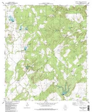 Indian Creek topo map
