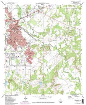 Brownwood topo map