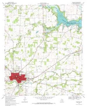 Comanche topo map
