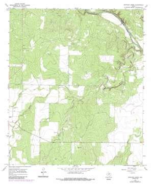 Mustang Creek topo map