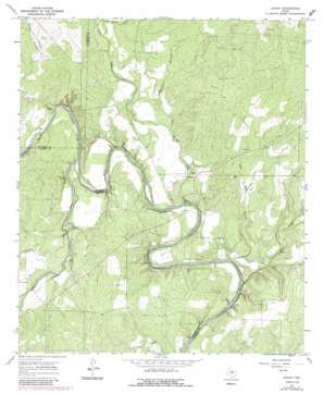 Leaday topo map