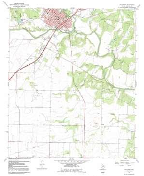 Ballinger topo map