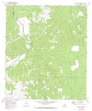 Burr Oak Creek topo map