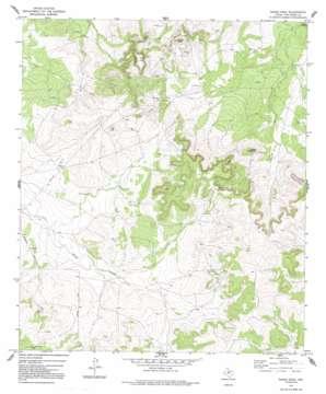 Susan Peak topo map