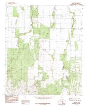 Vancourt topo map