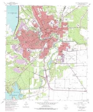 San Angelo South topo map