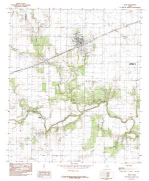 Miles topo map