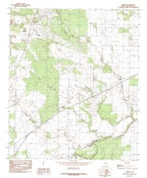 Harriet topo map