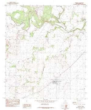 Rowena topo map