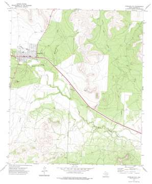 Sterling City topo map