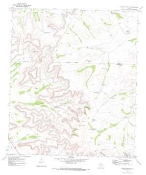 Cedar Canyon topo map