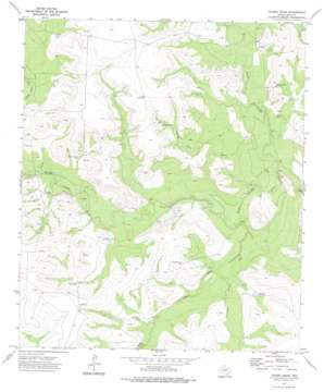 Causey Draw topo map