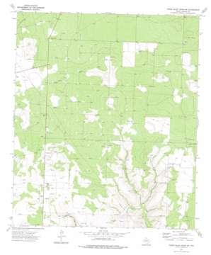 Three Bluff Draw Sw topo map