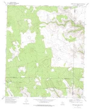 Three Bluff Draw Ne topo map