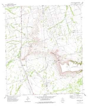 Castle Gap topo map