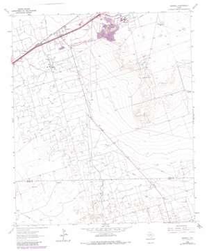 Penwell topo map