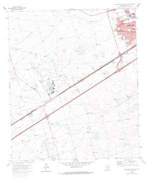 Southwest Midland USGS topographic map 31102h2