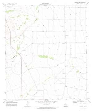 Saragosa Nw topo map