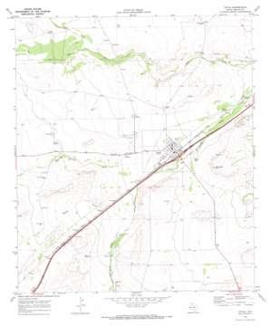 Toyah topo map
