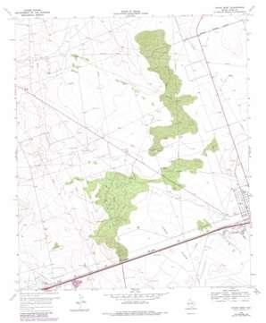 Pyote West topo map