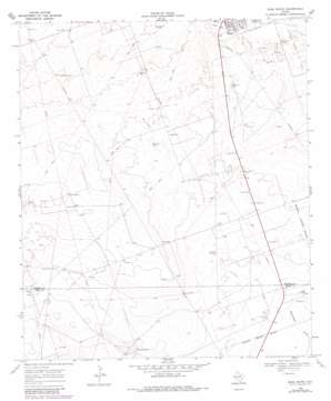 Wink South topo map