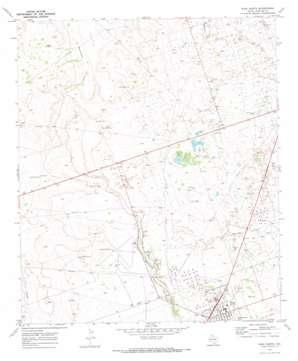 Wink North topo map