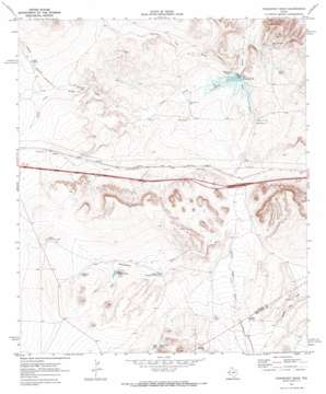Fencepost Draw topo map
