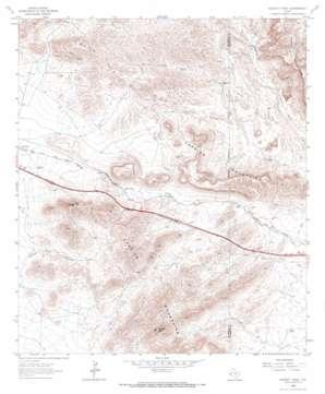 Hackett Peak topo map