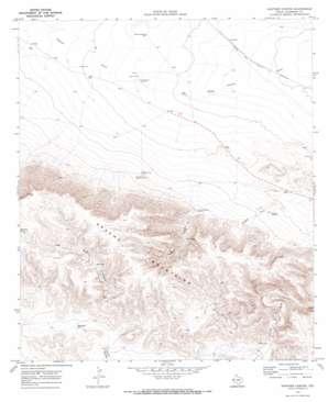 Panther Canyon topo map