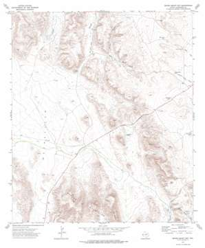 Seven Heart Gap topo map