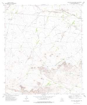 Dellahunt Draw West topo map