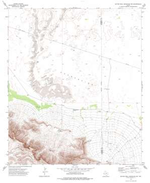 Bitter Well Mountain Sw topo map