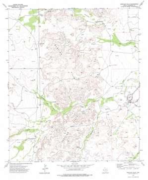 Rustler Hills topo map